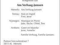 Overlijdensbericht Jan Verhaag